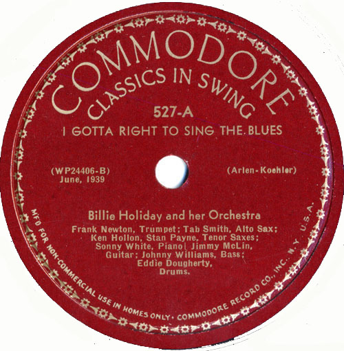 1939 Sessions Billie Holiday Songs