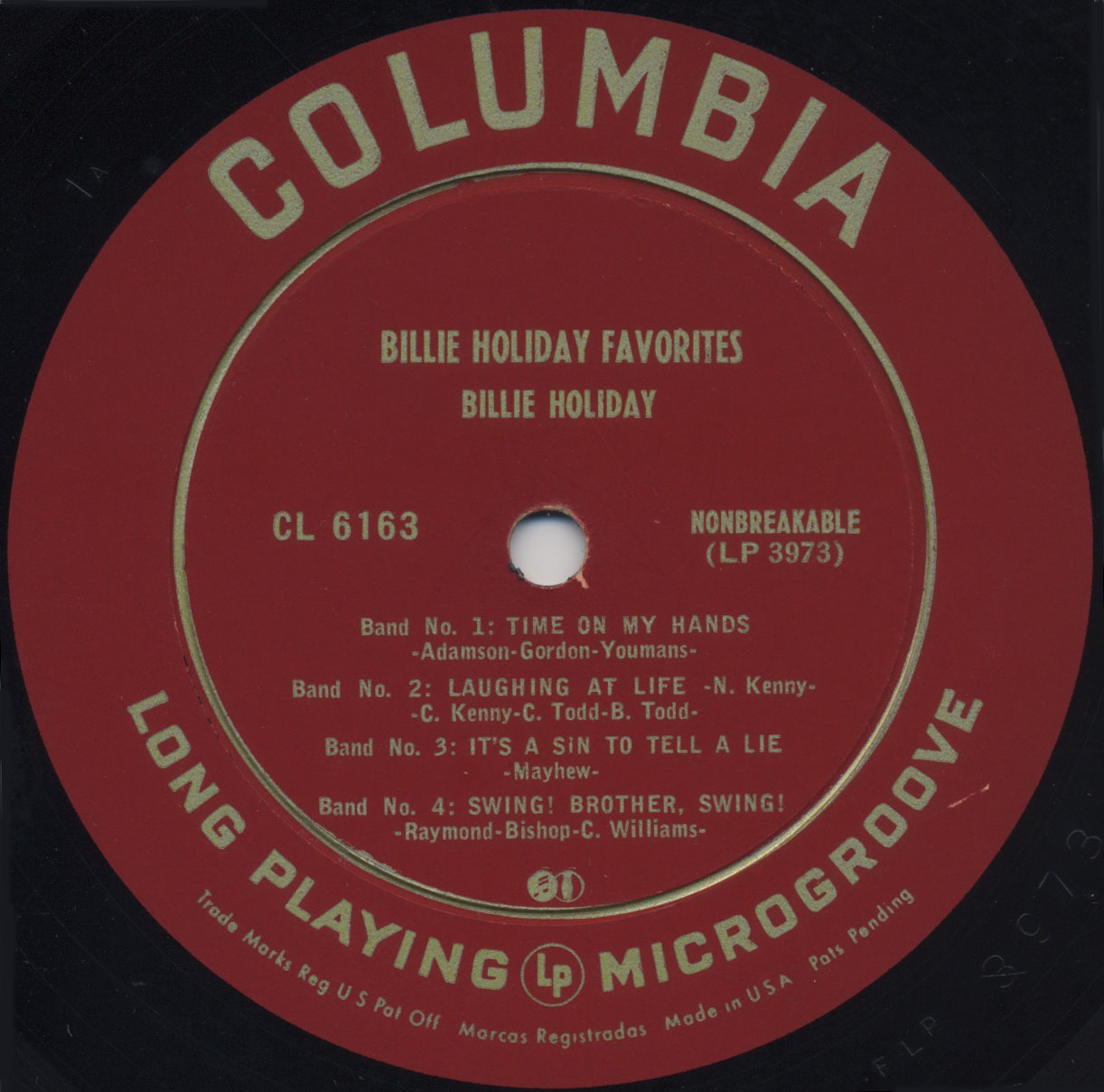 lp by record label billie holiday songs